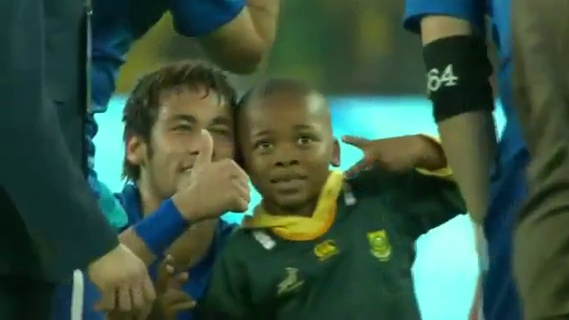 Little Boy Invades Game Field And Neymar Hugs Him | South Africa 0 – 5 Brazil March, 5th 2014