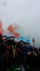 Ndezja e fishekzjarreve ne ndeshjen Kosova - Haiti
