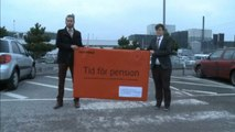 Greenpeace campaign against nuclear power plant in Sweden