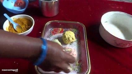 Three Color Poori Preparation in Telugu