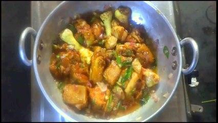 Village Style Chicken Fry Preparation in Telugu