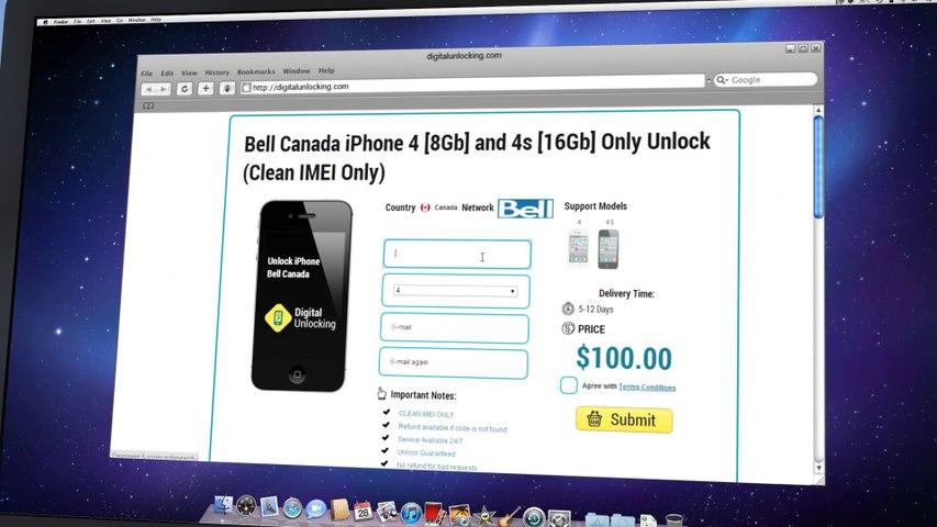 Koodo Unlock iPhone 5S   5C   5  4S   4   3GS  -  Video