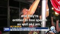 Man Hangs KKK Flag, Displays 'Members Wanted' Sign