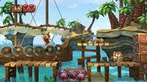 Donkey Kong Country: TF. Tormento de turbinas 4-6 - Gameplay - 100% puzzles y letras