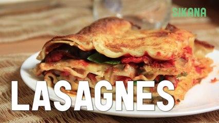 Recette de lasagnes végétariennes aux légumes - Cuisine méditerranéenne - HD