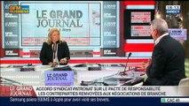 Thierry Lepaon, secrétaire général de la Confédération Générale du Travail, dans Le Grand Journal - 06/03 1/4