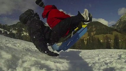 GoPro 3 Black Edition - Test Slow Motion (Snow Bob)