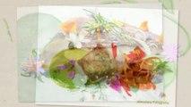 Salón de Gourmets con Flores en la mesa