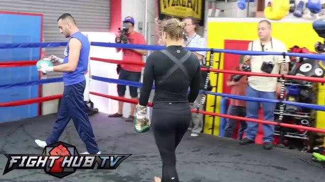 Ronda Rousey vs. Sara McMann Rousey workout