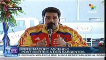 Nicolás Maduro rinde honores a guardias asesinados
