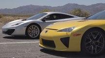 Insane Race : Bugatti Veyron vs Lamborghini Aventador vs Lexus LFA vs McLaren MP4-12C