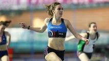 Finale 60 m haies Cadettes (record de France de Laura Valette)