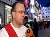 Glöckler zum ersten mal mit den Linzer Perchten in Linz            Linzer City Ring 2013