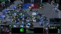Starcraft HoTS ZvP Swarm Host vs Immortal All In