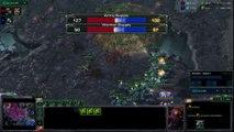 Starcraft HoTS ZvT Swarm Host vs Bio Mech