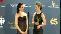 Zoie Palmer & Anna Silk CdnScreenAwards14