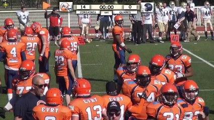 ASVTV - Corsaires vs Quarks - Football Américain - Championnat D2 2014 - 3ième Journée
