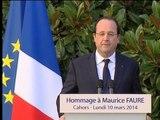 """Maurice Faure """"un homme politique d'avant la télévision"""" - 10/03"""