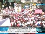 Médicos integrales iniciaron marcha desde Plaza Venezuela hasta Miraflores