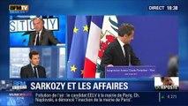 """BFM Story: Nicolas Sarkozy et les récentes affaires au cœur desquelles il se retrouve: """"il n'est pas complètement silencieux, il nous fait passer un message"""", Thierry Arnaud - 10/03"""