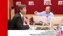 VIDÉO - Arnaud Montebourg révèle la lettre de Martin Bouygues