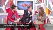 David Alemán y Patricia Betancort, presentadores de 'Detrás de la Verdad'. 10-3-2014