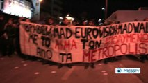 Laid-off workers hold protest rally outside Eurovision Song Contest