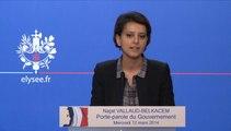Attaque contre la presse et la justice, Najat Vallaud-Belkacem répond lors du point-presse