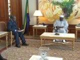 Audience accordée par le Président gabonais Ali Bongo Ondimba à Pierre Moussa, Président de la CEMAC