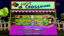 Nursery Rhymes - Hot Cross Buns, Hot Cross Buns, One A Penny, Two A Penny Hot Cross Buns...