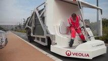 Première mission de la benne à ordures Veolia Propreté à air comprimé - Veolia Propreté-source