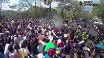 Así fue la brutal represión a estudiantes de la UCV