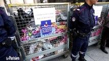 Destruction des contrefaçons saisies par la douane.