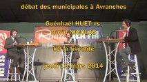 G. Huet vs. D. Nicolas - débat Municipales à Avranches - #2 la fiscalité