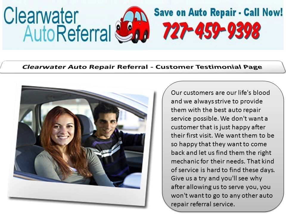 Clearwater Auto Referral Car repair