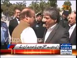 PM Nawaz Sharif arrives in Karachi to review situation