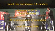 G. Huet vs. D. Nicolas - débat Municipales à Avranches - #4 la démographie et conclusion