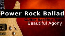 Video Power Rock Guitar Backing Track in F Minor - Beautiful Agony