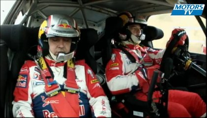 2012 WRC Rally di Sardegna - SS3 Loeb and Neuville Crash