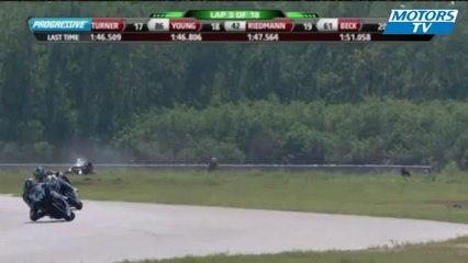 2012 AMA Sportbike New Orleans Crash