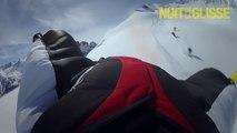 Raser les pistes de ski et les skieur en volant avec une Wingsuit... Dingue!
