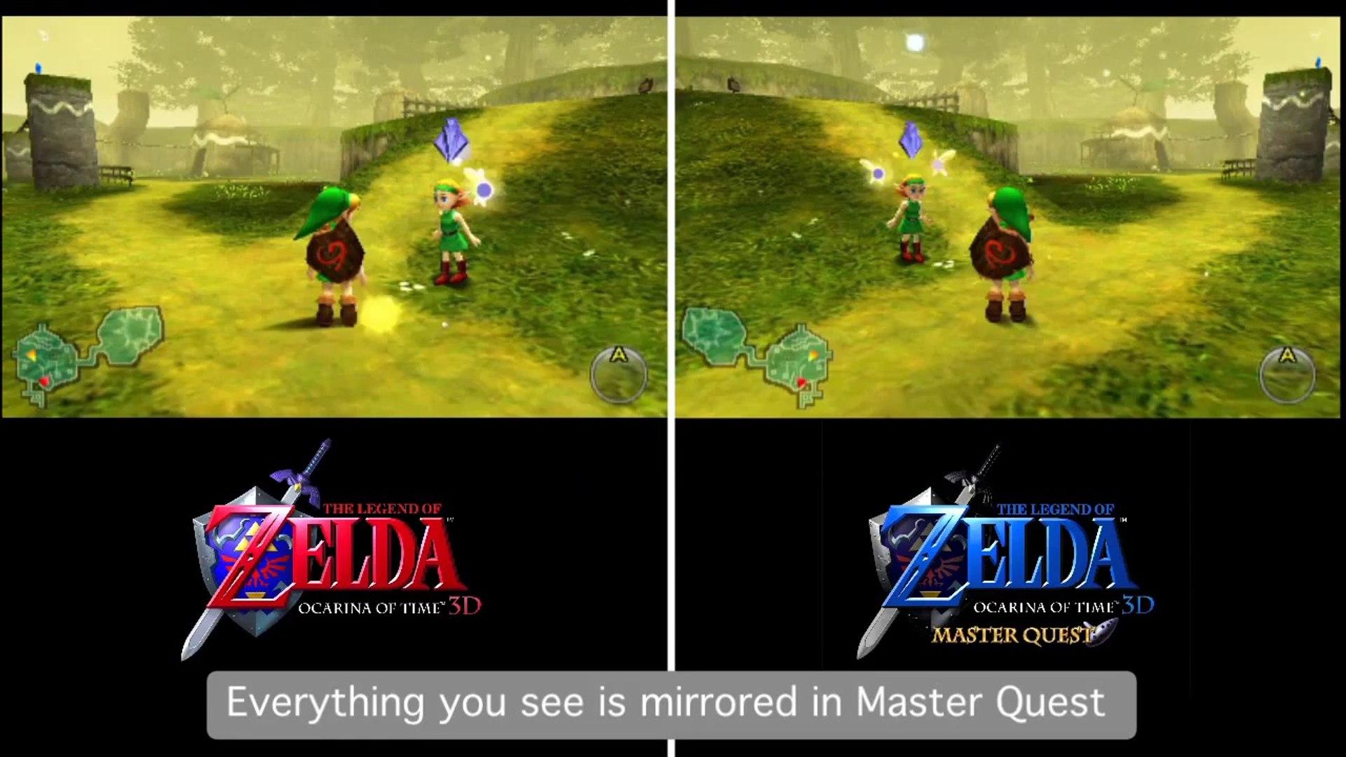 The Legend Of Zelda Ocarina Of Time 3d Master Quest Trailer