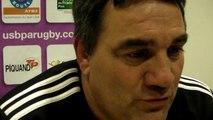 Rugby Pro D2 - Franck Marechal réagit après USB - La Rochelle