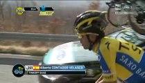 ciclismo tirreno-adriatico 4°tappa cambio della bici di contador