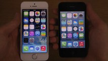 iPhone 5S iOS 7.1 Final vs. iPhone 4 iOS 7.1 Final - Comparison Review