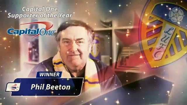 Leeds United Supporters Club member Phil Beeton - Football League's Supporter of the Year Award 2014 #LUFC #FLAwards
