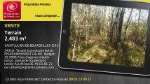 A vendre - terrain - SAINT JULIEN DE BOURDEILLES (24310) - 2 483m²