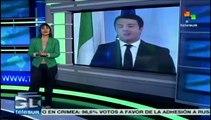 Primer ministro Renzi revisará con Merkel plan económico para Italia