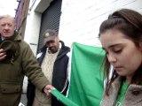 Irish Palestinian Girl reads Irish Proclamation, after Patrick's Day, Parade,  Dublin 2014.