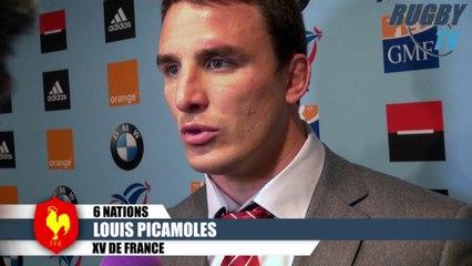 XV DE FRANCE 6 Nations apres match Machenaud-Bastareaud-Picamoles